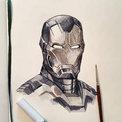 Iron Man Sketch by johnnymorrow