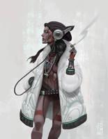 Robo Gangster Girl by johnnymorrow