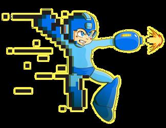 Megaman Tattoo Design by PowderAkaCaseyJones