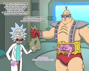 Rick And Krang by PowderAkaCaseyJones