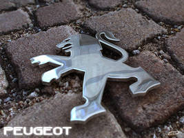 Peugeot emblem by Lenty