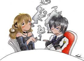 Fumando 1 puchito con Walter by Kato-ecchi
