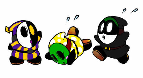 Shy Guy Color Swap by Mowo64