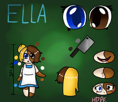 Creepypasta Oc - Ella's reference (Old) by HopefulEntertain