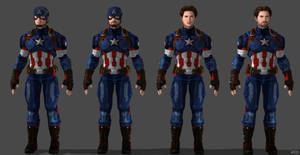 Captain America Custom Model #2 - Preview by SSingh511