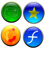 4 Open source OS Icons for you by TraximusFan
