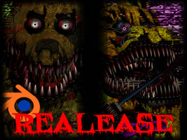 Release! - Nightmare Springtrap/Springbonnie by YourOgrelord