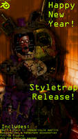 Happy New Year! - Stylized Springtrap release by YourOgrelord