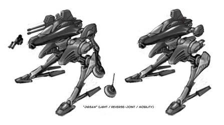 Jigsaw Mecha Concept by RyujinDX