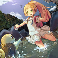 Lillie in Kanto by covamin