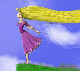 Tangled - Rapunzel Colored by thelegendofSwink