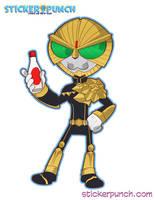 Kamen Rider Beast sticker (daily warm up 62016) by SolomonMars