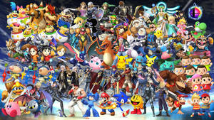 Super Smash Bros. Wallpaper by MidniteAndBeyond