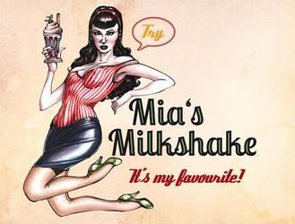 Pinup Lady: Mia's milkshake by Scharach