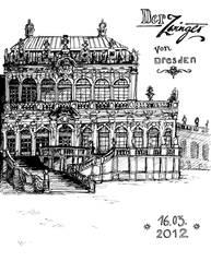 Zwinger, Dresden by Scharach