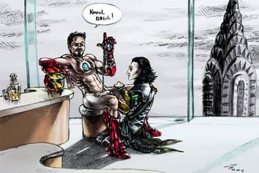 The Avengers: Iron Man x Loki by Scharach