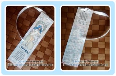 Marca Pagina Taira impreso by kaniachocolate