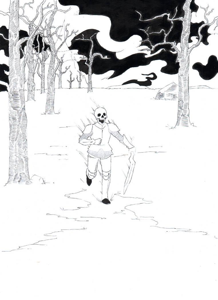 Hombre calavera corriendo by AkiszikosBowl