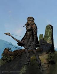 Elf Bard by thomden
