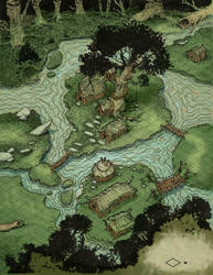 Swamp Village Map Isometric by thomden