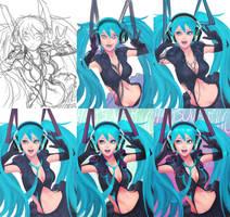 Hatsune Miku - the process by wysoka