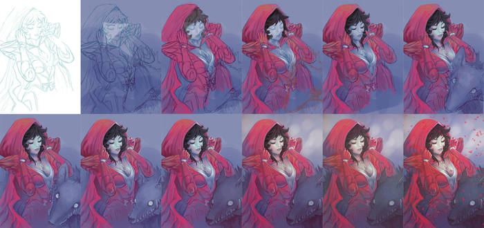 Red Riding Hood - the process by wysoka