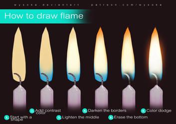 How To Draw Flame by wysoka