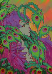 Peacock Girl by wysoka