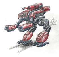 Hospital Sketch: Black Widows Marauder BattleMech by prdarkfox