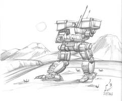 Hospital Sketch: Catapult BattleMech by prdarkfox