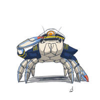 Comm CaptBoonieCrab by prdarkfox