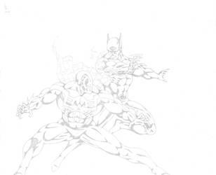 Batman Beyond Vs Spider-Man 2099 by darkclaw1303