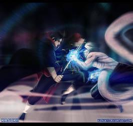 Naruto 581 : Itachi vs Kabuto by Kasukiii