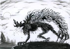 Inktober #9 - Screech by pfs-kun