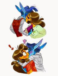 Surprise Kisses by Saetje