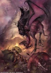 Eowyn and the Nazgul by jasonjuta