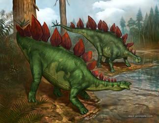 Stegosaurus Stenops by jasonjuta