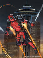 Deadpool Across America: The Space Needle by jasonjuta