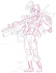 203 Gunner by doncroswhite