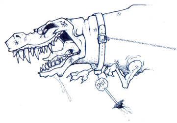 Spot the Dinosaur by doncroswhite