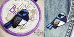 Fairy Wren - brooch by My--Little--Garden