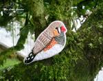 The Zebra Finch bird  brooch by My--Little--Garden