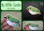 Cuban tody brooch by My--Little--Garden