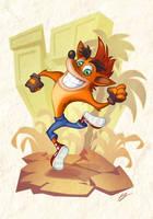 Crash Bandicoot!! by dreelrayk