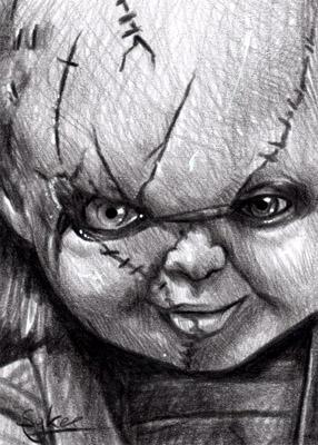 Chucky Horror Sketch Card By Inartia On Deviantart