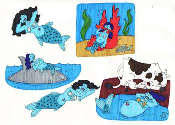 SSU Subraces: Piranha Mermaids by EmperorNortonII