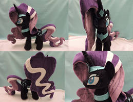 MLP Nightmare Rarity Plush (commission) by Little-Broy-Peep