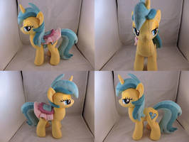 MLP Lemony Gem Plush (commission) by Little-Broy-Peep