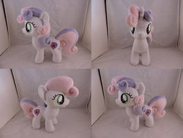 MLP Sweetie Belle Plush (commission) by Little-Broy-Peep