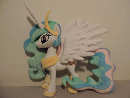 MLP Princess Celestia Plush (commission) by Little-Broy-Peep